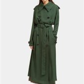 Acne Lucie Trench Coat Green