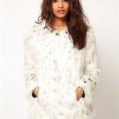 Asos Snow Leopard Fur Coat