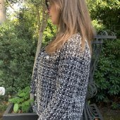 Black And White Tweed Winter Coat