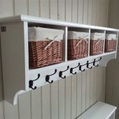 Coat Hook With Baskets