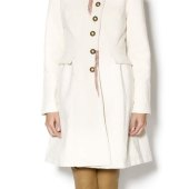 Cream Peacoat Outfit