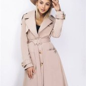 Juniors Tan Trench Coat