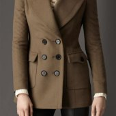 Light Brown Pea Coat