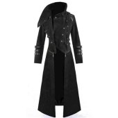 Men S Long Trench Coat With Hood
