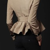 Peplum Trench Coats