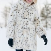 Snow Leopard Fake Fur Coat