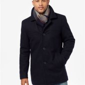 Tommy Hilfiger Peacoat With Scarf