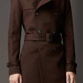 Trench Coat Brown Mens
