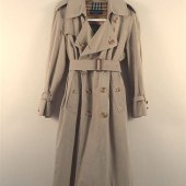 Trench Coat With Removable Wool Lining