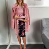 Very Pink Fur Coat Holly Willoughby