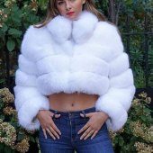 White Fox Fur Coat Outfit
