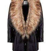 Women S Black Coat With Faux Fur Collar